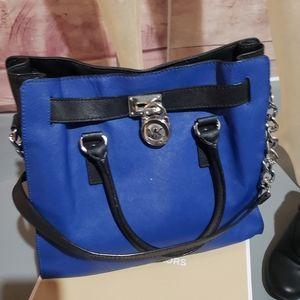 MK blue shoulder bag